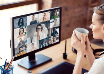 Hybride vergadering online